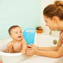 Baignoire ergonomique bébé Blanc / Bleu