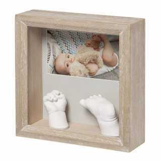 Cadre empreinte My baby sculpture en bois