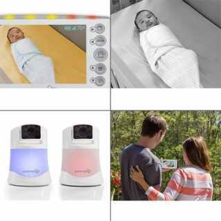 Moniteur vidéo numérique panoramique avec 2 camèras