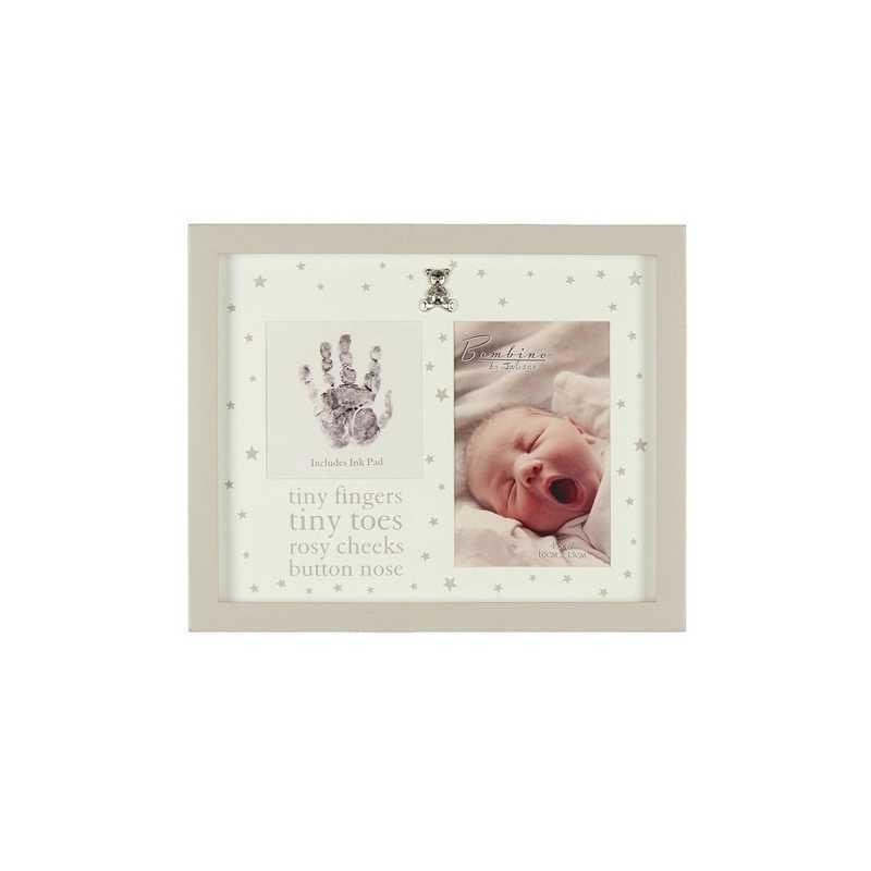 Cadre photo bébé avec empreinte