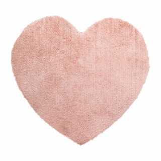 Tapis chambre enfant coeur Rose