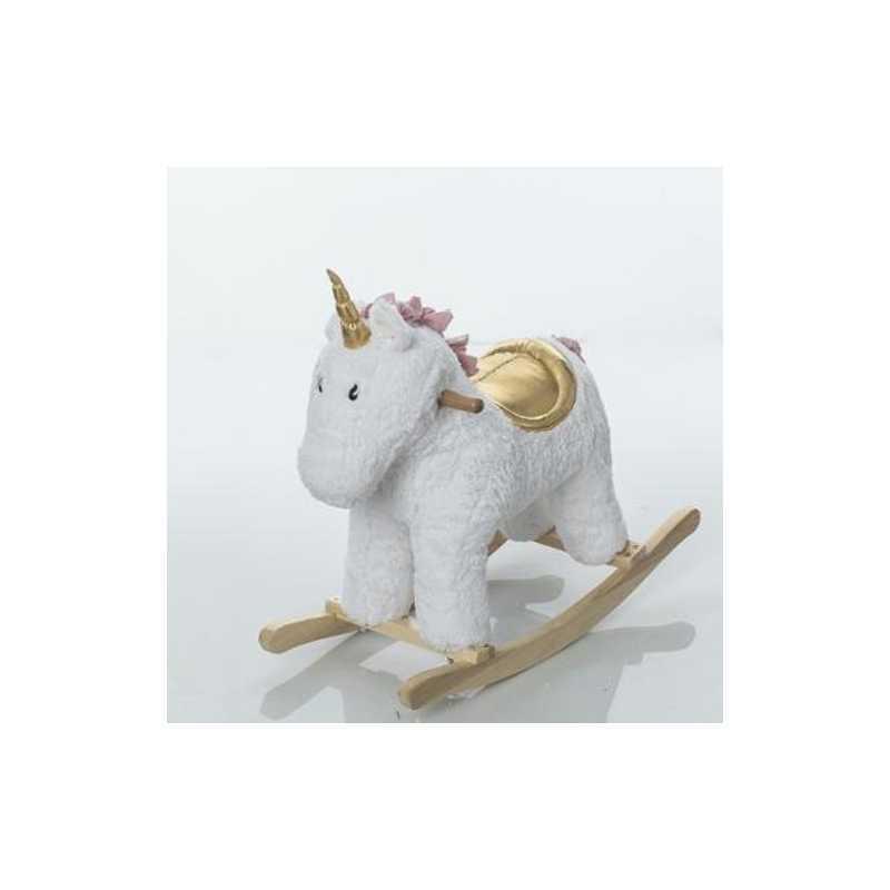 Licorne à bascule en bois Doré BeToys