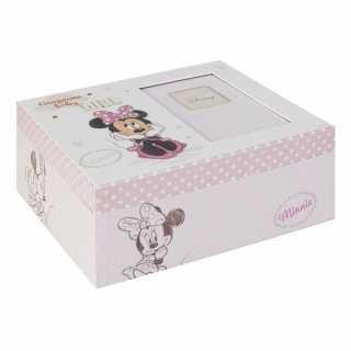 Boîte à souvenirs pour bébé Rose Minnie Mouse