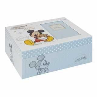 Boîte à souvenirs pour bébé Bleu Mickey Mouse