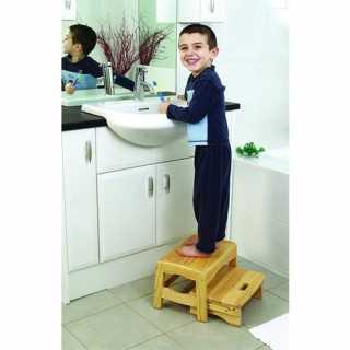 Marchepied enfant à 2 niveaux en bois