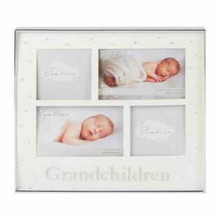 Cadre photo bébé avec cristaux pour grand-parents