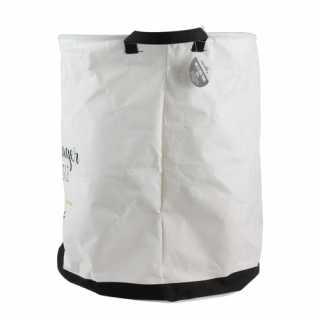 Panier à linge Rond en tissu Blanc 63L