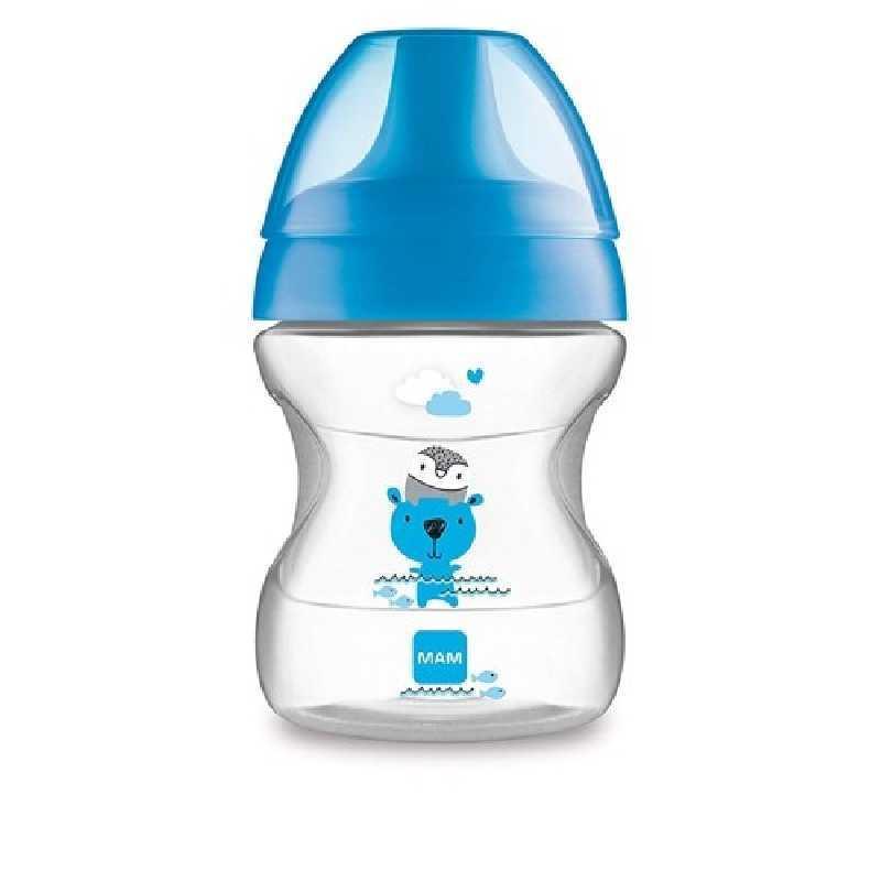 Tasse d'apprentissage 190ml Learn to Drink Bleu + sucette Mam