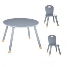 Set Table douceur gris + 2 chaises douceur gris