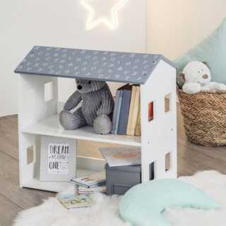 Bibliothèque enfant Maison Gris