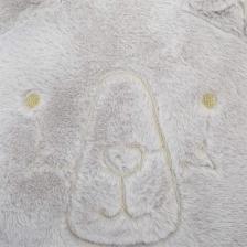 Coussin décoratif Fake Fur Ours Gris
