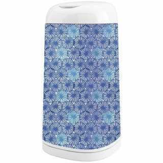 Housse décorative pour poubelle à couches Dress Up Flocons bleus