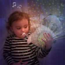 Peluche projecteur d'étoiles Lapin Gris