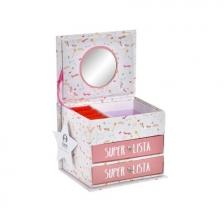 Boîte à bijoux en carton Licorne Rose