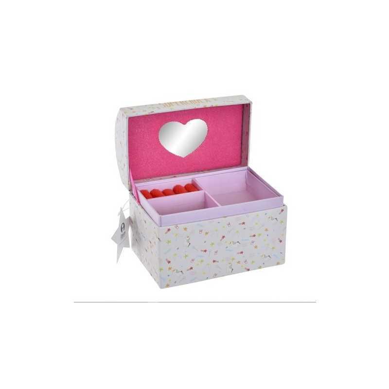 Boîte à bijoux en carton Licorne Fushia