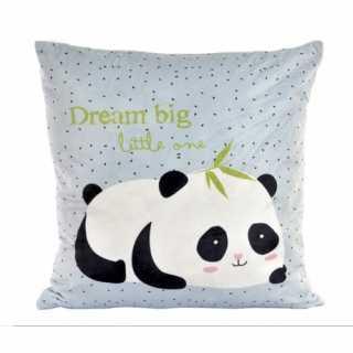 Coussin décoratif enfant Panda Bleu