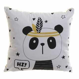 Coussin décoratif enfant Panda Blanc 40 x 40