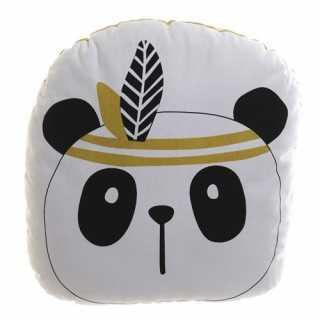 Coussin décoratif enfant Panda Blanc 35 x 34