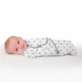 Gigoteuse bébé 0-3 mois Swaddle Me étoile gris
