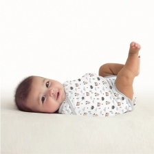 Gigoteuse bébé 0-3 mois Swaddle Me Kicksie Woodland Smiles
