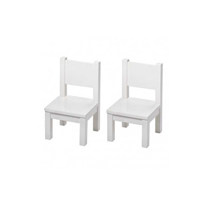 Set Table Hevea Blanche + 2 chaises Hevea Blanches