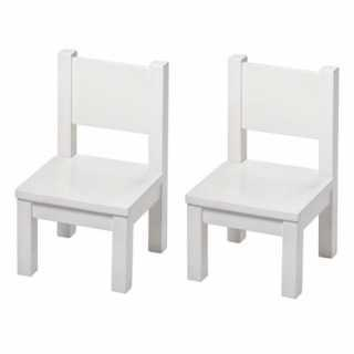 Set Table Hevea Blanche + 2 chaises Hevea Blanches