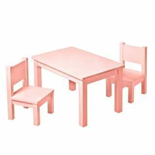 Set Table Hevea Rose + 2 chaises Hevea Roses