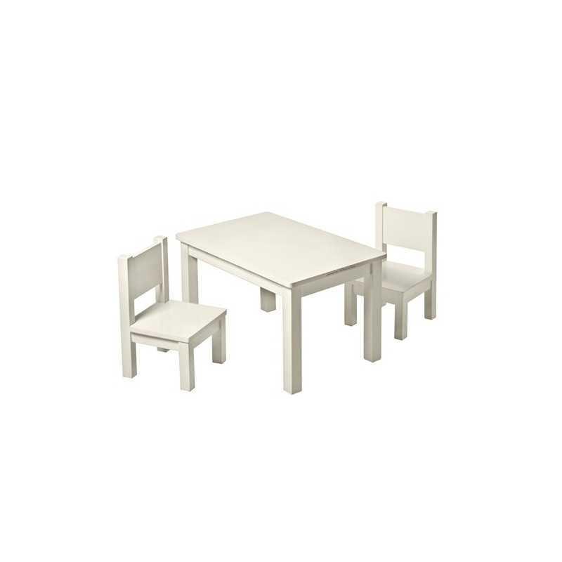 Set Table Hevea Mastic + 2 chaises Hevea Mastic