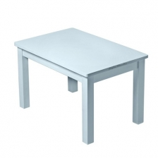 Set Table Hevea Bleue Grise + 2 chaises Hevea Bleues Grises