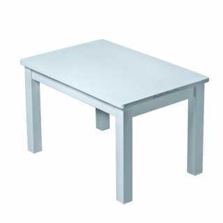 Set Table Hevea Bleue Grise + 2 chaises Hevea Bleues Grises