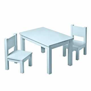 Set Table Hevea Bleue Grise...