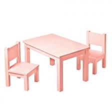 Lot de 2 chaises en bois Hevea Roses