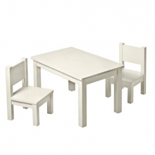 Lot de 2 chaises en bois Hevea Mastic