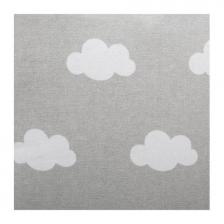 Coussin décoratif enfant nuage 4 pompons Gris