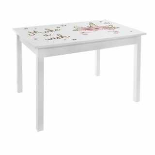 Table Print blanche chambre fille H48