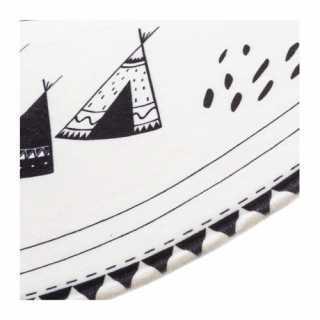 Tapis rond montagne noir et blanc D 90