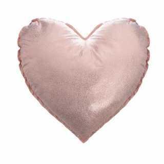 Coussin décoratif coeur rose