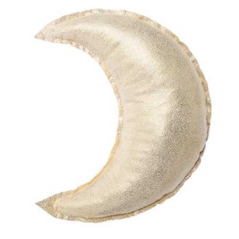 Coussin décoratif lune doré