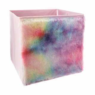 Bac de rangement pliable fourrure Multicolore