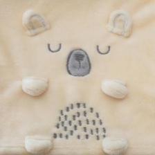 Plaid pour enfant Ours beige 75 x 100