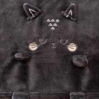 Plaid pour enfant chat Gris 75 x 100