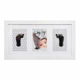 Cadre empreintes bébé 20 x 40 Blanc