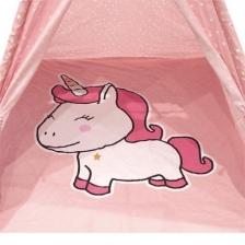 Tipi enfant Licorne Rose avec tapis