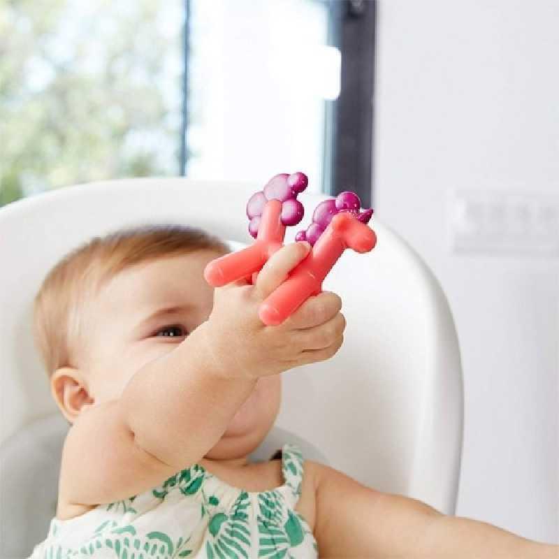 Anneau de dentition Licorne Prance Rouge