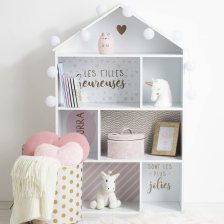 Meuble Maison 7 cases Rose
