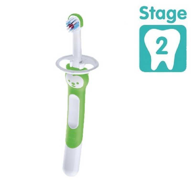 Brosse d'entrainement avec bouclier de sécurité Vert