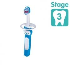 Brosse de dents bébé avec bouclier de sécurité Bleu