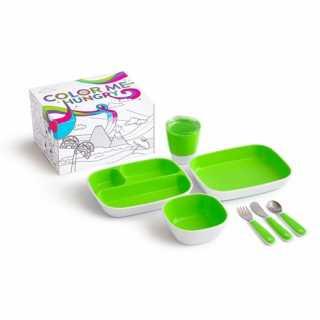 Coffret repas enfant 7 pièces Vert