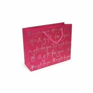 Sac cadeau en papier Rose