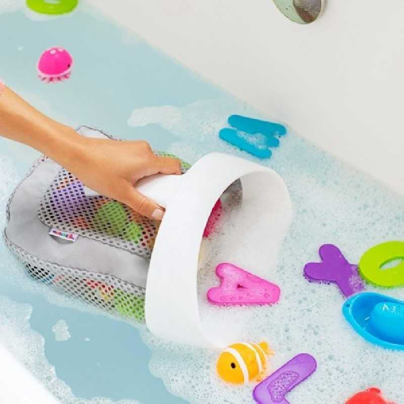 Organisateur de jouets de bain Gris